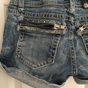 Miss Me Shorts - Miss me zipper shorts